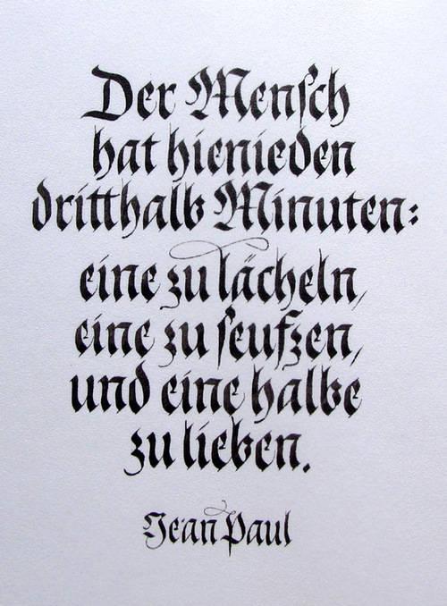 Hobby - Kalligrafie - Matthias Gröschke - Je vollkommener der ...